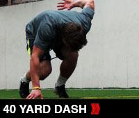 40 YARD DASH
