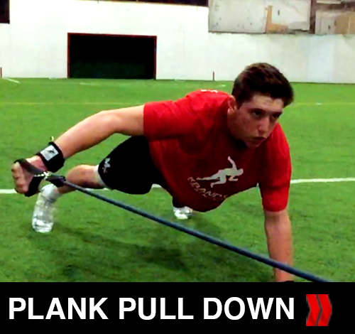 Plank Pull Down