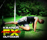 Outdoor FX Advanced Workout KB Duo Cross Knee Ups