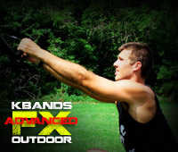 Kbands Outdoor Advanced Workout Face Pulls and Hugs