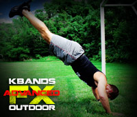 Outdoor FX Advanced Workout KB Duo Inverted Pushups
