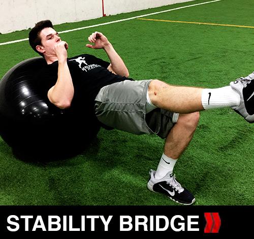 Stability Ball Single Leg Bridge
